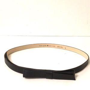 Kate Spade bow leather belt black EUC elegant chic